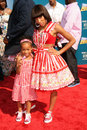 Lil mama and her sister jessica at the bet awards shrine auditorium los angeles ca Stock Photography