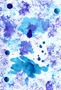 Lilac and blue blots  on white background and colorful splashes.