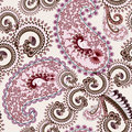 Lilac brown paisley decorated wavy curls on a light background Stock Photo