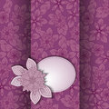 Lilac card beautiful flower background for your design and the text Stock Photo