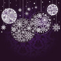 Lilac Christmas background Stock Photography