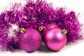 Lilac christmas decoration on a white background Stock Image