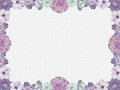Lilac flower frame nostalgic style Royalty Free Stock Photos