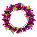 Lilac Flower Round Frame