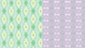 Lilac geometrical and green grey mosaic pattern seamless summer pattern on white background seamless Stock Photo