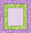Lilac with green floral vintage Stock Image