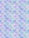 Lilac mermaid`s scales seamless pattern Royalty Free Stock Photo