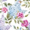 Lilac pattern Royalty Free Stock Photo