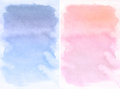 Lilac and rose spot, watercolor abstract hand painted background Royalty Free Stock Photo