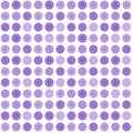 Lilac seamless abstract pattern with round shapes