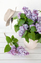 Lilac in vase Stock Image