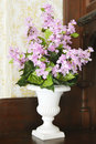 Lilacs in White Vase Royalty Free Stock Photo