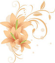 Lilies with decorative ornament Stock Photo