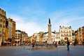 Lille city-Old shopping square and building Royalty Free Stock Image