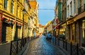 Lille city-Old shopping streets and building Royalty Free Stock Image