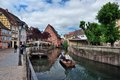 Lillte venise in colmar little alsace france typical house the background Royalty Free Stock Image