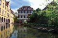 Lillte venise in colmar little alsace france typical house the background Stock Photo