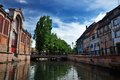 Lillte venise in colmar little alsace france typical house the background Royalty Free Stock Photography
