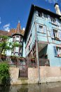 Lillte venise in colmar little alsace france typical house the background Royalty Free Stock Photos
