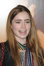 Lily collins at the last song world premiere arclight hollywood ca Royalty Free Stock Photos