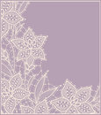 Lily. Lace. Card. Royalty Free Stock Photo