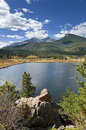 Lily Lake And Longs Peak Royalty Free Stock Photo