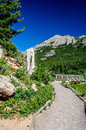 Lily Lake Rocky Mountain National Park Colorado Trail with blue Royalty Free Stock Photo
