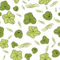 Lily Pads scatter pattern vector seamless repeat Royalty Free Stock Photo