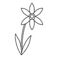Lily petal natural style thin line