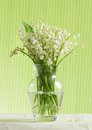 Lily of the valley bouquet on light background Royalty Free Stock Photography