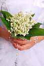 Lily of the valley bunch for the first holly communion holy Royalty Free Stock Image