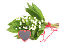 Lily of the valley with heart sign Stock Image