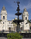 Lima cathedral plaza de armes lima peru in the in central in south america Royalty Free Stock Images