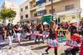 LIMASSOL, CYPRUS - FEBRUARY 26: Carnival participants on Cyprus Carnival Parade on February 26, 2017 in Limassol