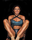 Limber fitness athlete alison burns is and flexible as she competes in the finals of the npc universe held in teaneck new jersey Stock Image