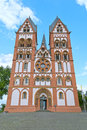 Limburg cathedral catholic of or georgsdom or limburger dom in the old town of in hesse germany Royalty Free Stock Image