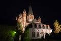 Limburger dom germany at night the Stock Photography