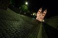 Limburger dom germany at night the Royalty Free Stock Image
