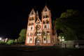 Limburger dom germany at night the Royalty Free Stock Images