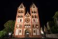 Limburger dom germany at night the Royalty Free Stock Photos