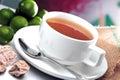 Lime Assam Tea Royalty Free Stock Photo