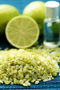 Lime bath salt Stock Images