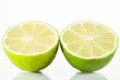 Lime cut in half Stock Photos