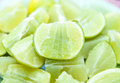 Lime fresh and slice background Royalty Free Stock Photos
