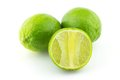 Lime fresh on white background Royalty Free Stock Photos