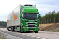 Lime Green Next Generation Scania R580 for Temperature Controlle Royalty Free Stock Photo