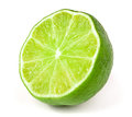Lime half isolated on white background Royalty Free Stock Photo