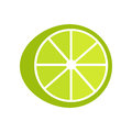 Lime Illustration In Flat Style Design. Royalty Free Stock Photo