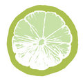 Lime juice slice Stock Photography
