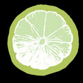 Lime juice slice illustration Stock Photography